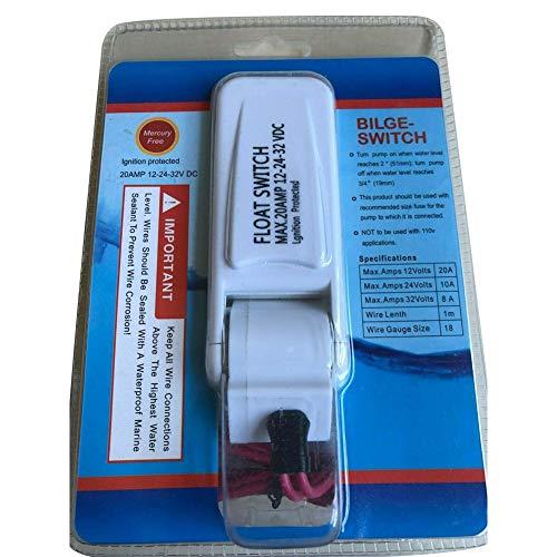 Interrupteur à flotteur automatique pour pompe de cale de bateau 12 V 24 V 32 V pour pompe de cale
