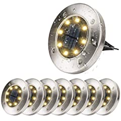 ☆ Provide lighting for any place: Disk Lights provide perfect lighting for your courtyard, gardens, sidewalks, lawns and corridors, etc., to add a beautiful scene for the night view of the night. Just place it wherelighting is needed at night . No ne...