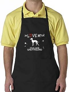 "Eddany LOVE MY Italian Greyhound Apron 24"" wide by 30"" long."