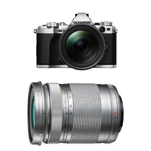 Olympus OM-D E-M5 Mark II Systemkamera inkl. 12-40 mm Top Pro Objektiv Kit silber + 40-150 mm Objektiv silber