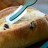 Herramienta de horneado, espátula de arco de pan de baguette con hoja de acero al carbono delgada y mango de abdominales.