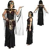 NET TOYS Cleopatra Kostüm Ägypterin Damenkostüm M 40/42 Frauenkostüm Pharaonin Ägyptische Königin Outfit Faschingskostüm Antike Pharaoninkostüm Damen