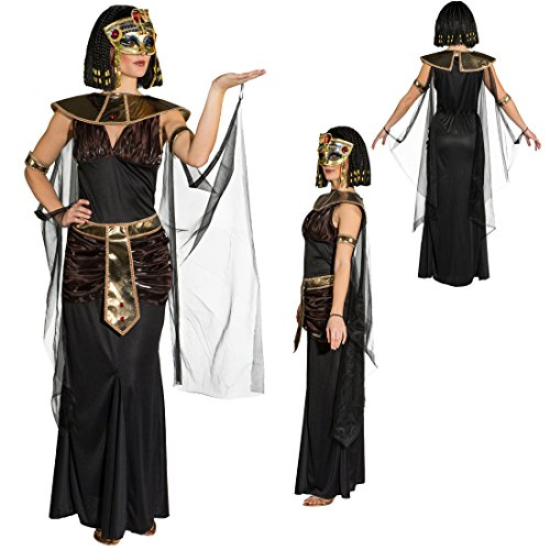 NET TOYS Cleopatra Kostüm Ägypterin Damenkostüm L 44/46 Frauenkostüm Pharaonin Ägyptische Königin Outfit Faschingskostüm Antike Pharaoninkostüm Damen