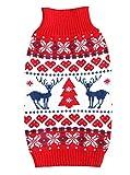 E & L - Ropa de Ropa para Mascotas clásica de Navidad, Ropa para Perro, suéter cálido de Invierno para Perro, suéter Festivo