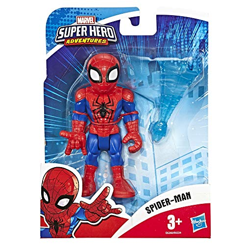 Hasbro Playskool- Heroes Marvel Super Hero Adventures-Spider-Man (Action Figure da 12,5 cm), Multicolore, E6260ES0
