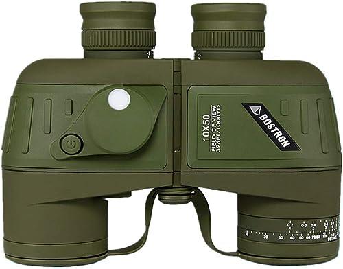 ZJH Jumelles pour Adultes, Jumelles pour l'observation des Oiseaux, Jumelles Haute Marine 10x50 HD étanches avec télémètre et oculaire avec Boussole