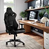 KARNOX Legend-BK New Breathable Soft Cloth Gaming Chair with 155º Recline Racing Chair High Back and Ergonomic Style Swivel Chair with Headrest and Lumbar Support(LegendBK- Dark Grey)