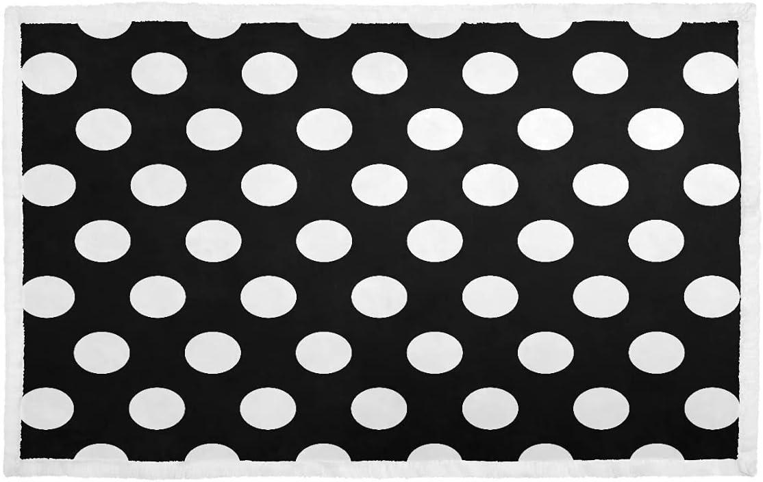 Small Award-winning store Pet Blanket Black Direct sale of manufacturer White Polka Blankets Dot So Dogs for