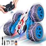 Rc Cars,Remote Control Car with Double Sided 360° Flips, 2.4 Ghz High Speed RC Stunt Car with LED, 4WD Off Road Truck Toys for 5+ Year Old Boys