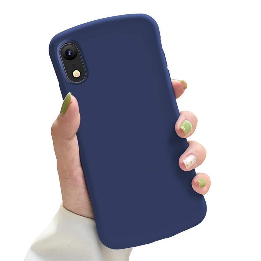 過ち軽減摩擦iPhone XR ケース TPU シリコン 耐衝撃 米軍MIL規格取得 驚くほどの手触り 指紋防止 防塵 人気 全面保護 スマホケース 6.1インチ ブルー