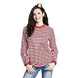 Rubies's-14865-9 Camiseta Manga Larga de Color Rojo y Blanco a Rayas, Unisex, para Carnaval (XXL), XX-Large (14865-9)