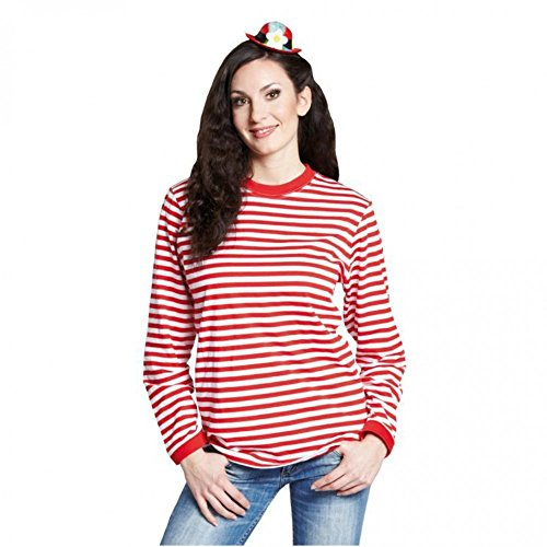 Rubie ́s Gestreept shirt lange mouwen rood-wit gestreept Unisex trui top shirt Carnaval, XL