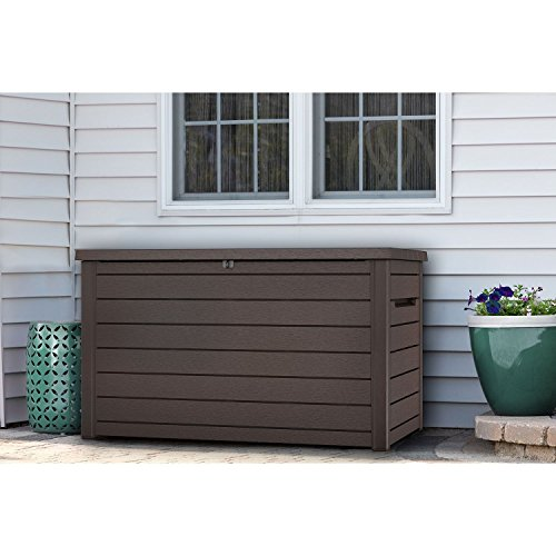 small Keter XXL 230 Gallon Plastic Deck Storage Container Box Outdoor Patio Garden Furniture 870 liters