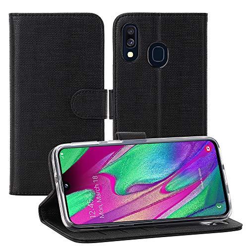 Foluu Samsung Galaxy A40 , Galaxy A40 Wallet Case Cover Card Holster Canvas Flip...