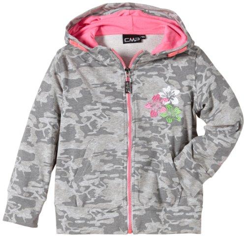CMP - F.lli Campagnolo Veste de Sport à Capuche pour Fille 152 cm Gris - Gris Camouflage/Rose