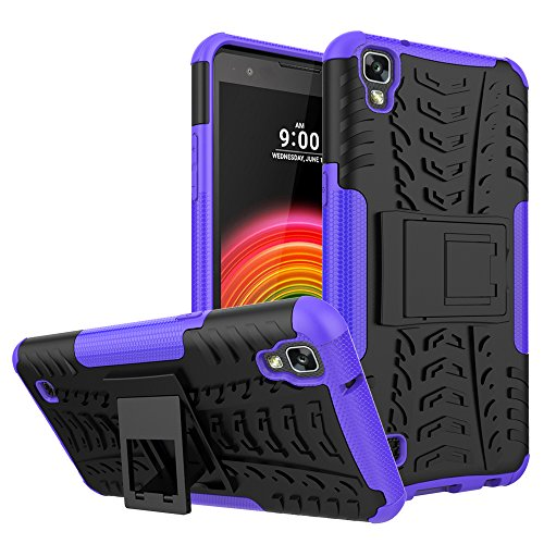 Hongjian Funda para LG X Power K220 Soft Shell Viewing Bracket Case Cover 3