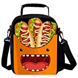 7-Mi Holder Insulated Cooler Reusable Ice Packs for Lunch Boxes Lunch Tote Food Storage Bag (Hot Dog)