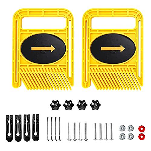 Featherboards Doppel Feder Platte Set Loc Board Für Tischsäge Band Säge Router Tisch Zaun Miter Gauge Holzbearbeitung Handwerkzeug