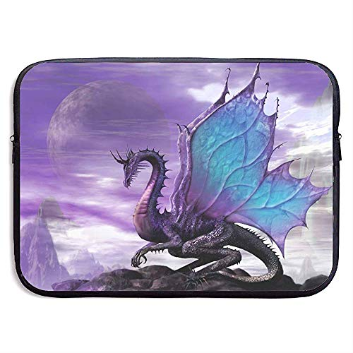 Laptop Sleeve Case Purple Dragon Notebook Bag Laptop Shoulder Bag Protective 15 Inch