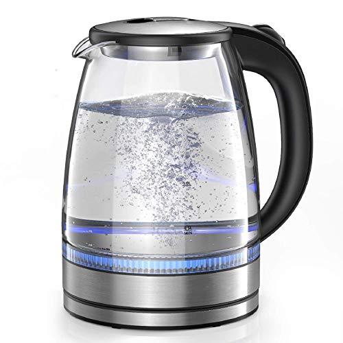 Daluo Schnell Boil Jug Kettle Elektro 1,7 Liter mit LED-Leuchten Food Grade-Material Borosilikat Glassthermos Ohne eigenartigen Geruch (Color : A)
