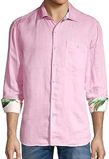 Tommy Bahama メンズ ラインインザサンドリネンブレンドシャツ