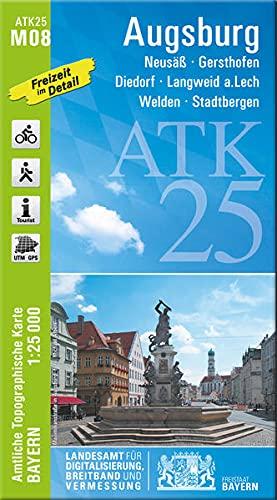 Blatt M08 Augsburg 1:25 000 (ATK25 Amtliche Topographische Karte 1:25000 Bayern)
