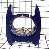 ERTYP Saving Pot Creative Saving Pot en Bois MDF Batman Hero Tirelire Enfants Chambre Décoration Props Magasin Vêtements for Enfants Dessin animé Tirelire (Color : Black, Size : 16 x 19 x 3cm)