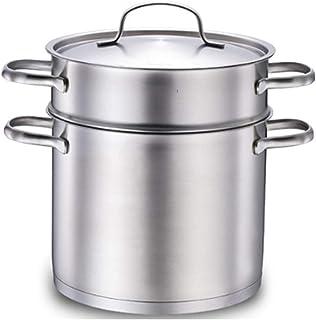 XJJZS Vapeur - 304 en Acier Inoxydable Pot 22cm Haute Marmite Approfondir Double Bottom Épaississement Cuisinière à Induct...