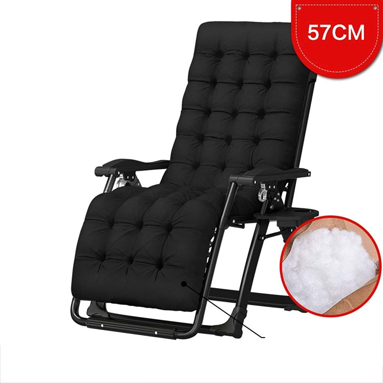 Folding Chair Single Bed Lunch Break Easy Folding Lounge Chair Lunch Break Office Siesta Bed Cot (color  Black)