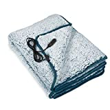 Motor Trend 12V Heated Blanket for Car – Full-Size Heated Car Blanket with Quick Warming Action, Plush Fleece Electric Car Blanket Measures 58' x 42' Inches, Ideal Car Heated Blanket for Cold Weather