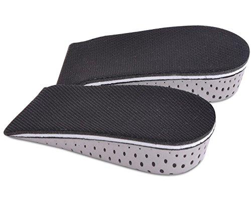 TININNA Unisex Atmungsaktive Unsichtbar Erhöht Einlegesohlen Schuh Pad Erhöhende Schuheinlagen Vergrößerung 3.3 cm