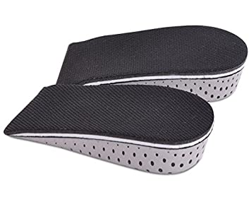TININNA 1 par Espuma de la Memoria Respirable Altura Invisible Aumento Zapato Almohadillas Plantillas para Hombres Mujeres,4.3 cm