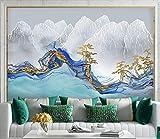 ZZXIAO Fondos de pantalla 3D Curva abstracta Montaña Pino Papel tapiz 3D Papel tapiz no tejido Murales Sala de e para cocina Decoración Fotomural sala Pared Pintado Papel tapiz no tejido-430cm×300cm