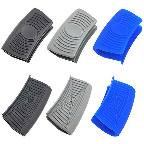 Ceqiny 3 pares de asas silicona para ollas agarraderas para ollas agarres...