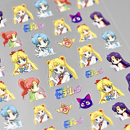 1PCS Thin Tough 260 Moji Hot Cute Girly Manicure Sticker Japanese Sticker 5D Nail Sticker Beautiful Girl