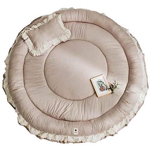 Alfombrillas redondas de dos piezas + cojines con núcleos para casa, gruesas alfombras para escalar, extraíbles y lavables.
