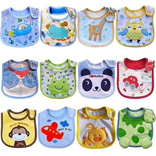 SLOSH 12 Baberos Impermeables Bebe Recien Nacido Niño Niñas Unisex
