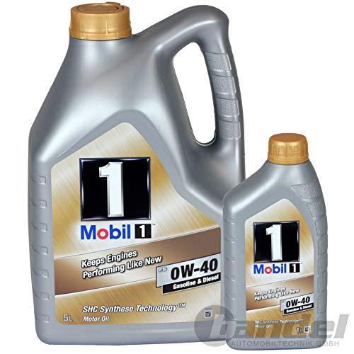 Motoröl Mobil 1 FS 0W-40, 6 liter (Neue verbesserte Formel)