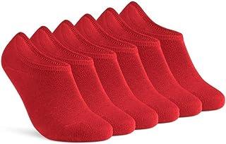 sockenkauf24, 6 pares de calcetines cortos invisibles de algodón con almohadilla de silicona antideslizante