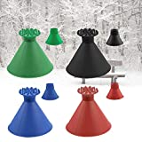 BERNIE ANSEL Ice Scraper Round Windshield Snow Scraper Magic Cone-Shaped Car Funnel Snow Removal Tool for Winter Outdoor red,Black,Blue,Green 4 Pack
