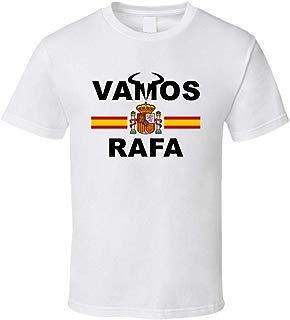 Rafael Nadal Vamos Rafa Spanish Flag Favorite Tennis Player Fan T Shirt