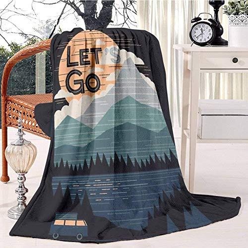 Let's Go Plush Throw Blanket Soft Receiving Blanket Bed Throws Christmas Sofa Shawl Blanket Kid Nursery Emergency Blanket for Living Room 60x80IN