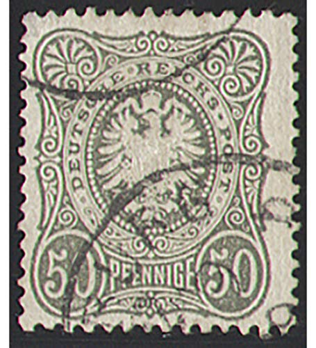 Goldhahn Deutsches Reich Nr. 38 gestempelt 50 Pf. Reichsadler Pfennige Briefmarken für Sammler