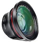 ORDRO Professional 72mm Full HD 0.39x Lens Set, 2 en 1 Lente Gran Angular Lente Macro para Cámara de Video