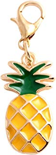 Enamel Pineapple Fruit Pendant Charms Clasp Handbag Key Ring Car Keychain GlobalDeal