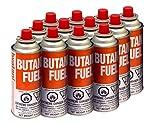 Iwatani BU-6 CassetteFeu🄬 Butane Fuel Canister for Butane Stove & Torch Refills, 8-Ounce (Set of 12)