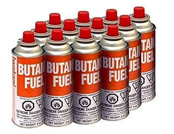 Iwatani BU-6 CassetteFeu Butane Fuel Canister for Butane Stove & Torch Refills 8-Ounce  Set of 12
