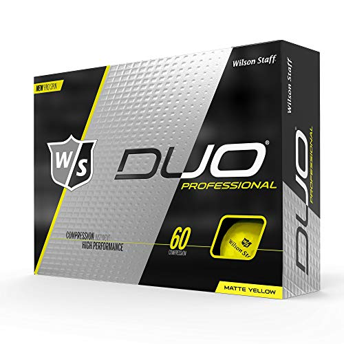 WILSON W/S Duo Professional 12-Ball YE Balles Standards Golf Adulte Unisexe, Yellow