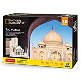 CubicFun National Geographic Puzzle 3D Jigsaw City Architecture Building Model Kit with Booklet for Adults and Kids, India Taj Mahal Decoration 87 Pieces