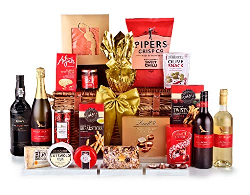 Photo of Broadway Hamper With Sparkling Wine – Hand Wrapped Gourmet Food Basket, in Gift Hamper Box